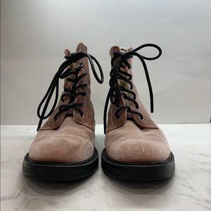 Dolce Vita Rose Bardot Lace-Up Velvet Boot